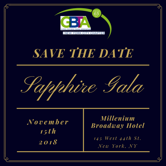 Sapphire Gala 2018 - Save the Date
